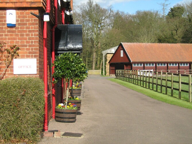 The main office and yard at Cheveley Park Stud