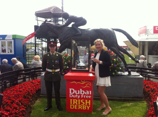 Holly and the Irish Derby Trophy