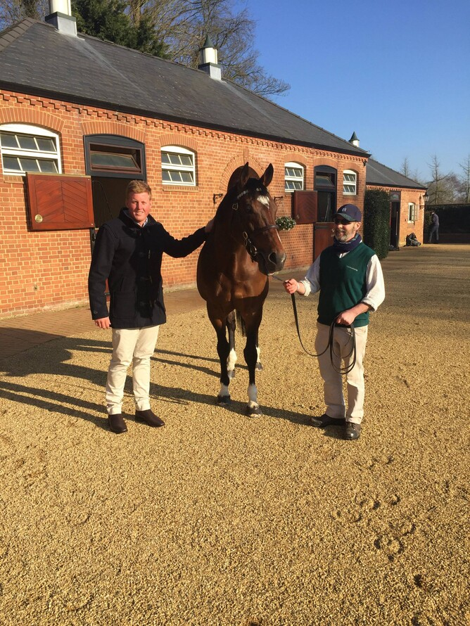 David pictured with the legendary stallion Frankel