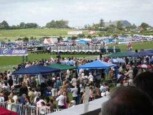 The Royal Stakes start before a festive crowd at Ellerslie yesterday