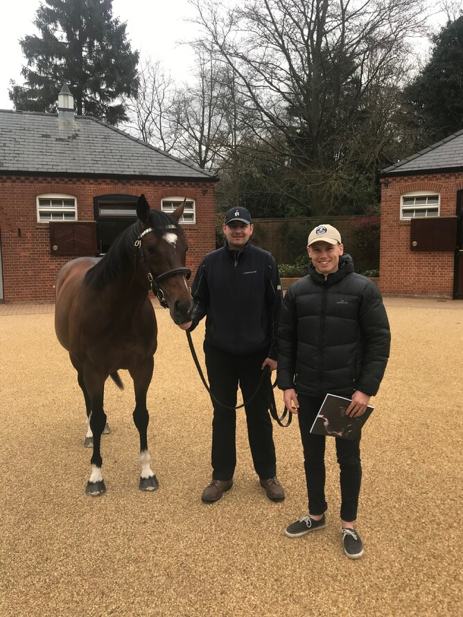 Sam pictured with champion Frankel