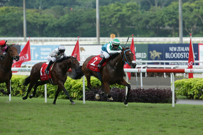 Infantry wins the Singapore Derby in July