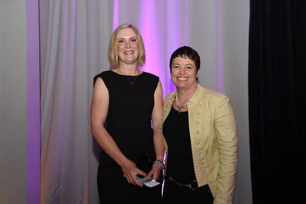 Katie-Jo Liddle receiving her Primary ITO regional student of the year award, pictured with Training Advisor, Kim Clapperton