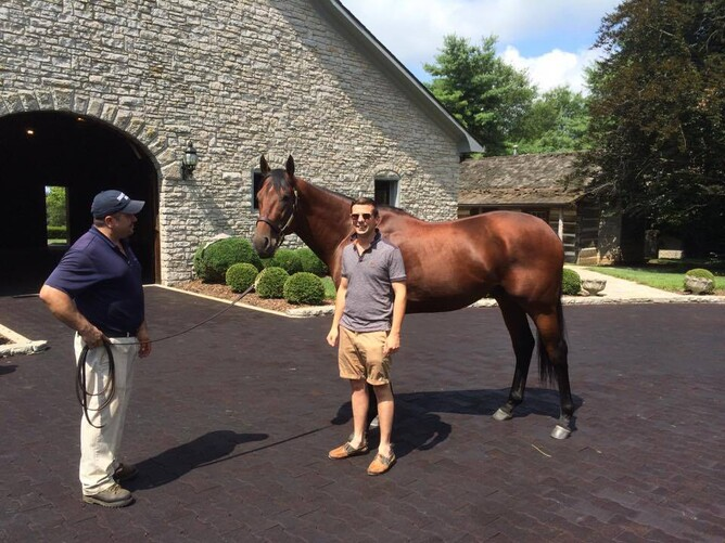 Bevan with American Pharoah