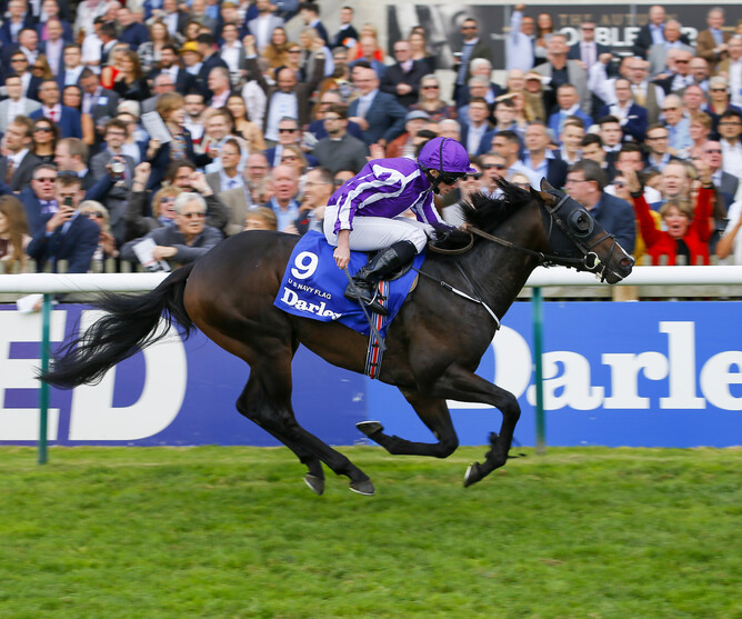 U.S. Navy Flag winning the Gr.1 Dewhurst Stakes (1400m) at Newmarket. - Supplied