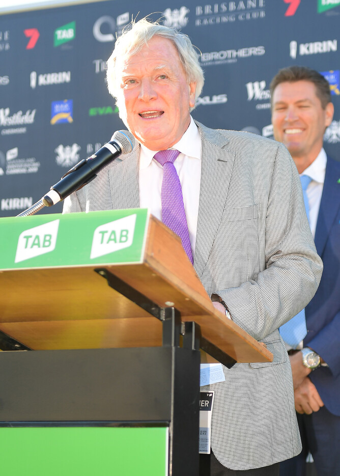The Bostonian's owner-breeder David Archer after his Gr.1 Doomben 10,000 (1200m) victory on Saturday. - Grant Peters