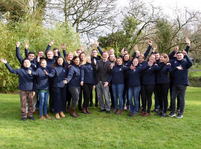 Danielle pictured with her fellow Irish National Stud 2018 student intake