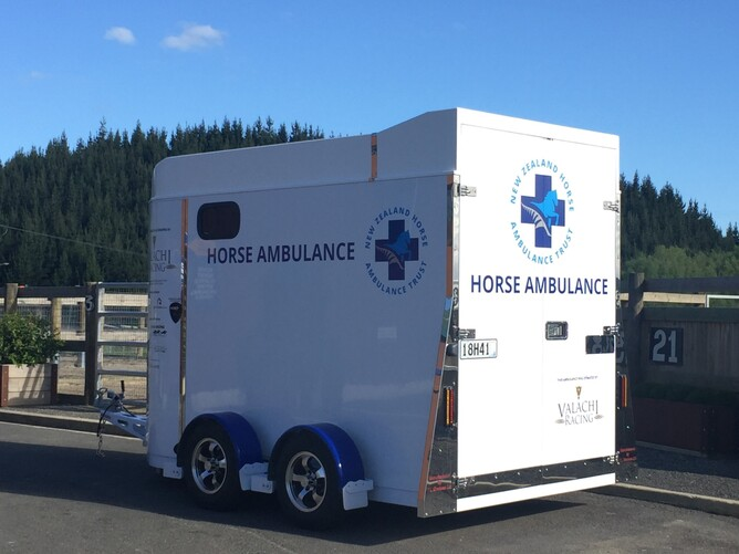 The first of five horse ambulances to be available across New Zealand
