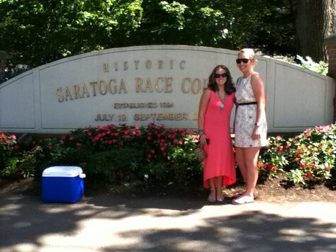 Holly and her friend Kate at Saratoga Racecourse