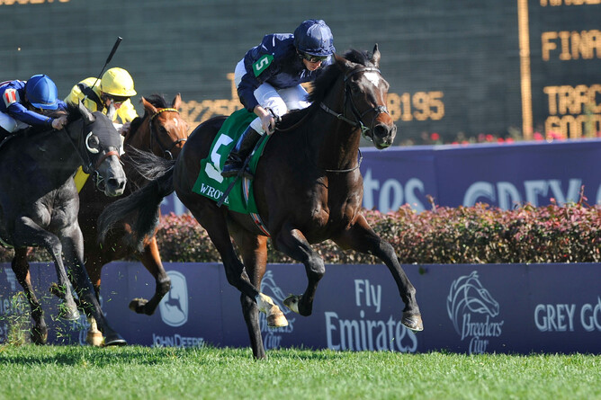 Wrote wins the Breeders' Cup Juvenile Turf (Gp.1) - photo Eric Patterson