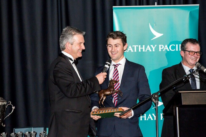 Benji King during the presentation of the Mary Lynne Ryan Young Achiever award - Juliet Drysdale