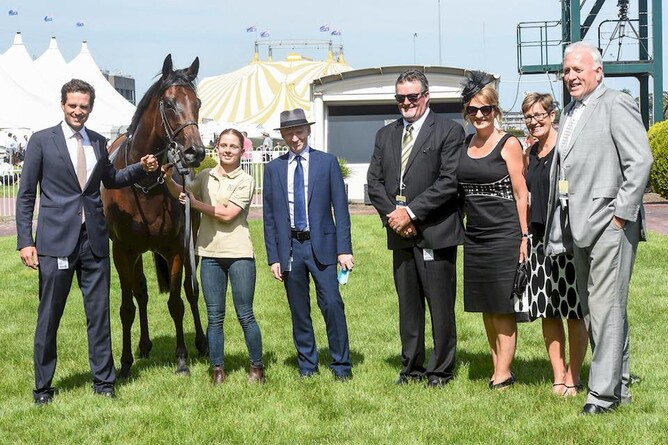 Matamata breeders Mark and Cath Lupton pictured with their mare Etah James