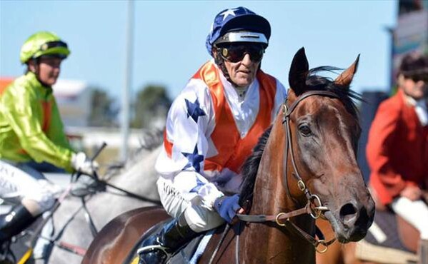 Noel Harris brings Capone back to scale after winning the Group 2 Taranaki Cup - Photo NZTM website