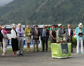 Te Aroha - special day for NZTBA members and Hawkes Bay Breeders' Richard and Liz Wood