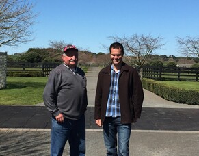 Brian Collins all smiles at the Auckland Stallion Tour